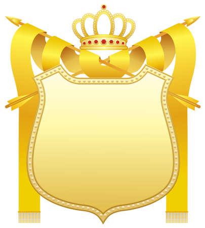 yellow jacket: Gold shield Illustration