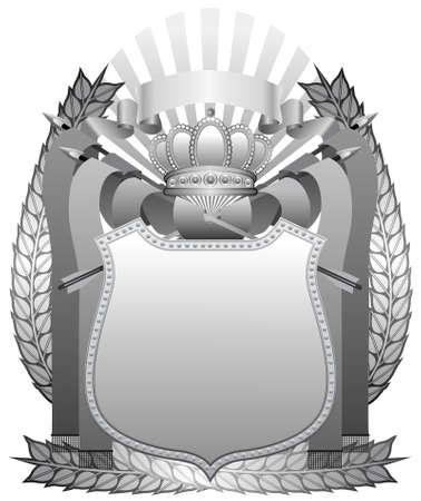 Silver steel shield Vector