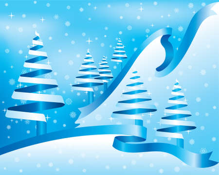 Blue winter Stock Vector - 3492201