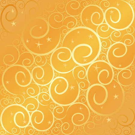 Swirlstar gold Stock Vector - 3498727
