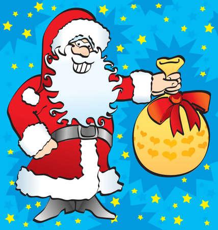 Santa carrying presents Vector