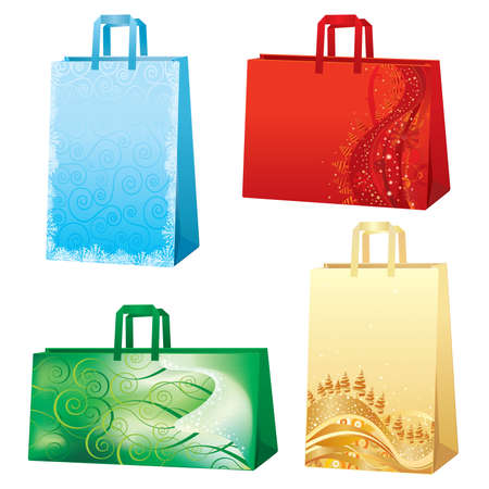 Xmas bags - Christmas set Vector