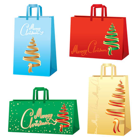 Xmas bags - Christmas tree set Vector