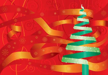 Christmas ribbon tree Stock Vector - 3498757