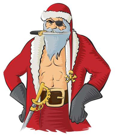 Pirate Santa Vector