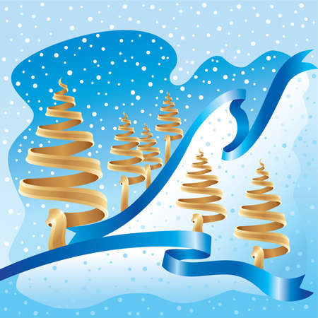 Blue and gold xmas Stock Vector - 3498725