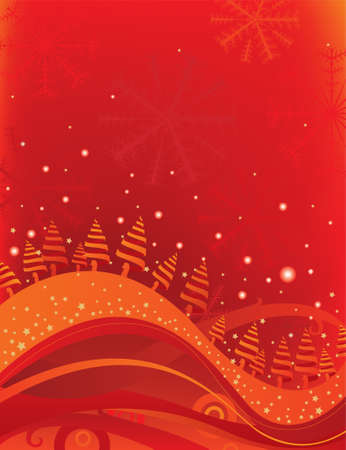 Red Christmas Stock Vector - 3498784