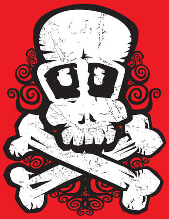 buccaneer: Grunge skull