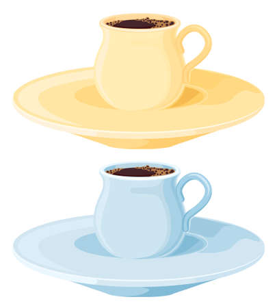 Two coffee pots Vector