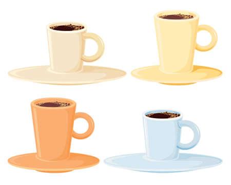 stimulation: Four coffee cups