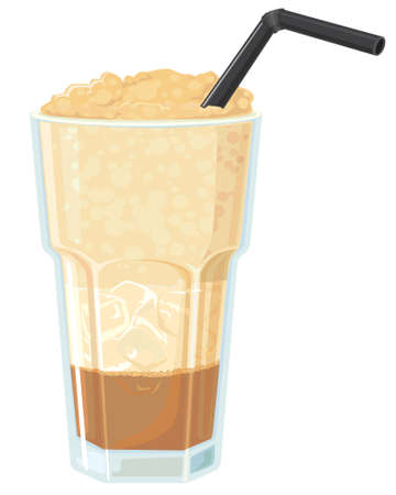 cold coffee: Iced coffee