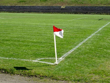 Corner flag, football (socker) ground. Stock Photo - 3631762