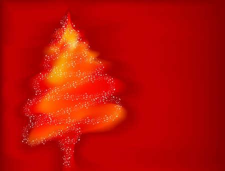 Xmas tree with stars Vector