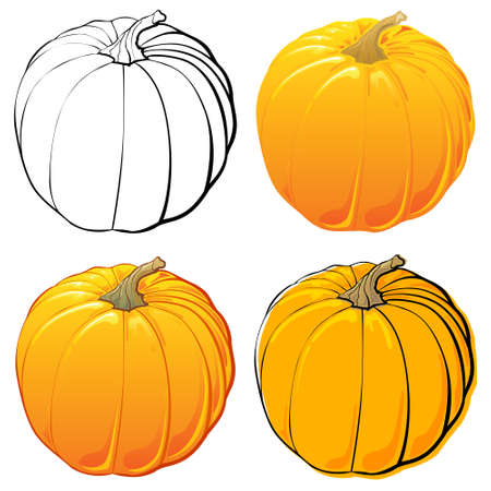 each: Pumpkins set. Each in separated layer.