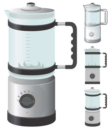 Blender (juicer) vector illustration in 4 variation. Vector