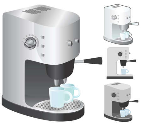 Espresso vector illustration in 4 variation. Vector