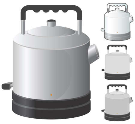 kitchen appliances: Kettle vector illustration in 4 variation.