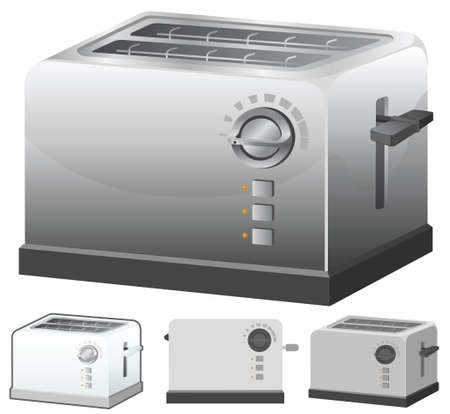 Toaster vector illustration in 4 variation. Vector