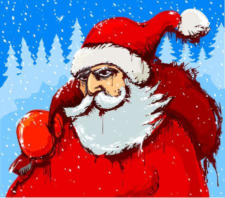 Santas comming Vector