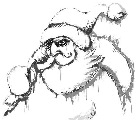 Santa sketch Vector