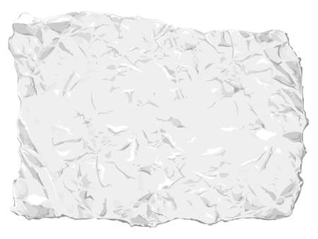 scrunch: Crumpled paper. Easy to handle, all in few layers.