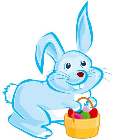 Blue Easter bunny Stock Vector - 4352206