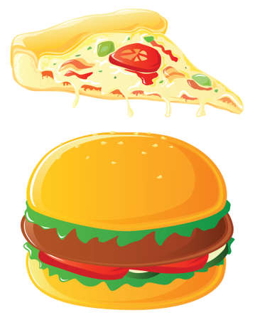 Pizza & Burger Vector