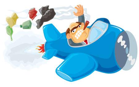 troublemaker: Planet killer. Vector illustration.