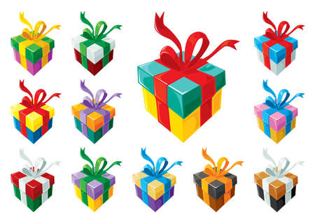 Gift boxes set 3 Stock Vector - 5539508