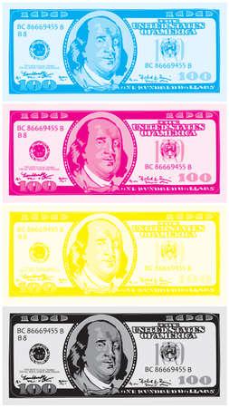 monet: Dollar CMYK vector Illustration