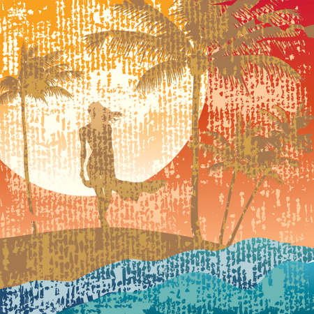 Summer silhouette Illustration