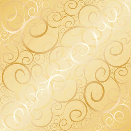 Old gold swirl wallpaper background. Vector illustration. Stock Vector - 5786725