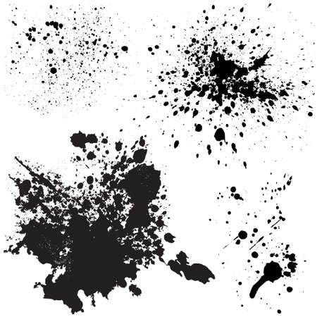 Ink stains set Vector
