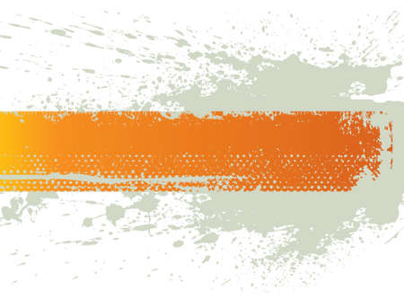 Orange splash banner Vector