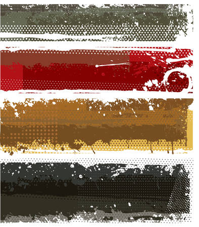 inky: Modern banners Illustration