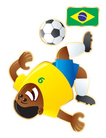 Football mascote Brazil
