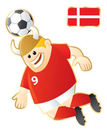 Football mascote Denmark Vector