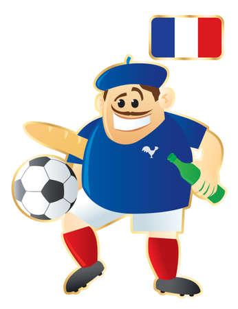 Football mascote France Ilustração