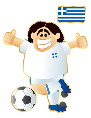 Football mascote Greece