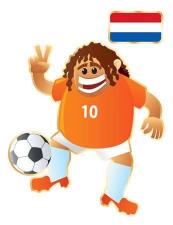 Football mascote Holland Ilustração