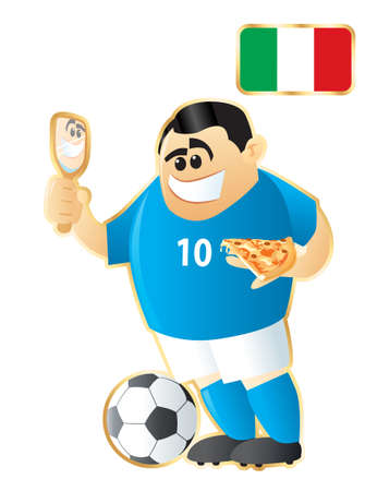 Football mascote Italy Vector