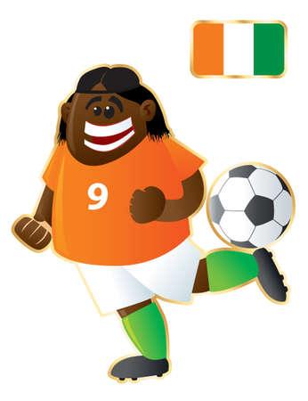 Football mascote Ivory Coast Ilustração