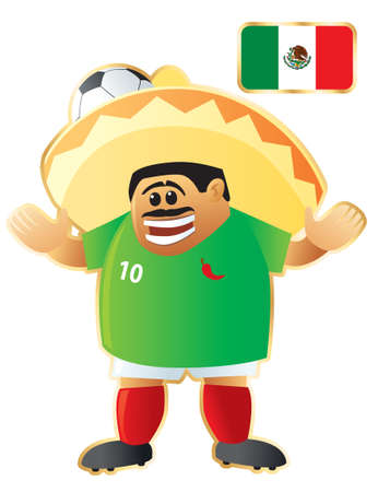 Football mascot Mexico Stock Vector - 6482263