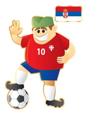 Football mascot Serbia Vector