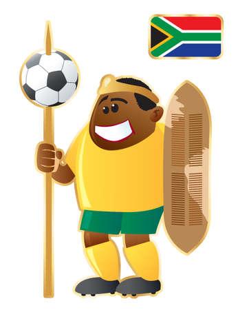 Football mascot South African Republic Vector