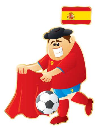 Football mascot Spain Vector