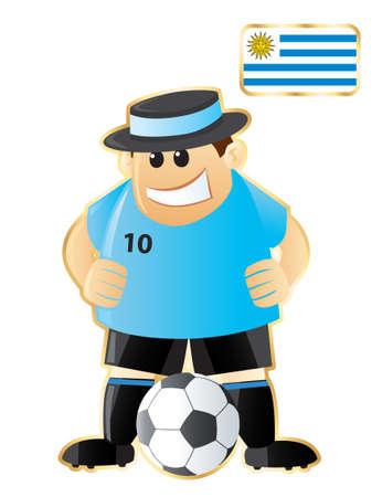 Football mascot Uruguay Vector