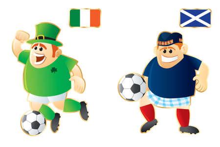Football macots Ireland Scotland photo