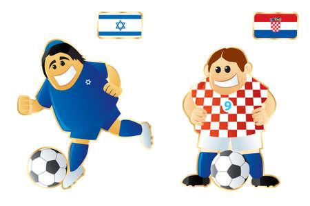 Football macots Israel Croatia Stock Photo - 6807300