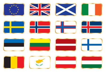 National flags - European set photo